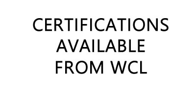 Certifications Available