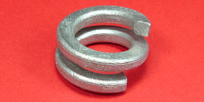 Double Coil Helical Spring Split Lock Washers