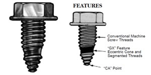 GX Self-Extruding Screws